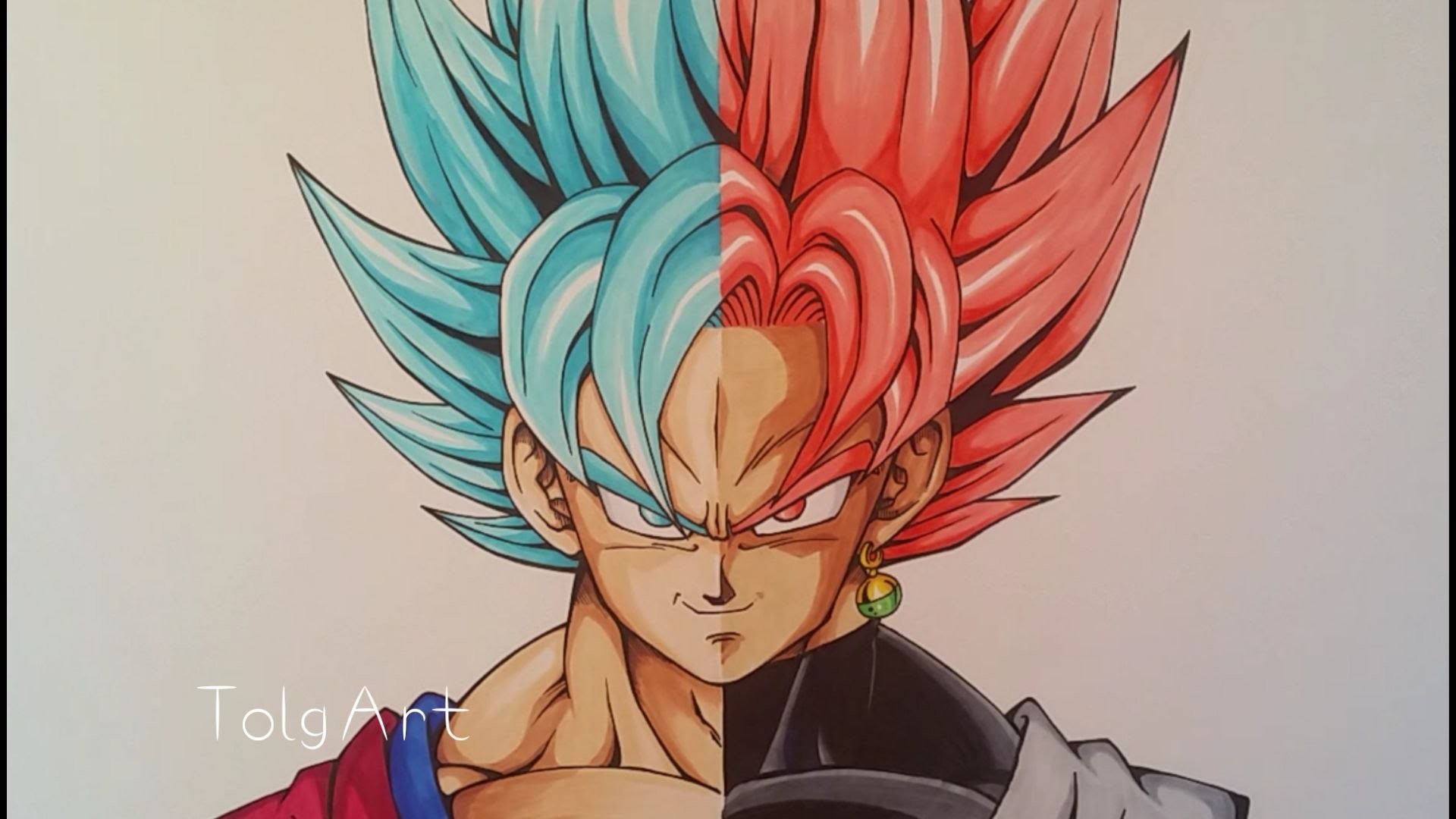 Goku Black Ssj Rose Para Colorear: Drawing Goku Vs Black Goku, Super Saiyan Blue Vs Rose