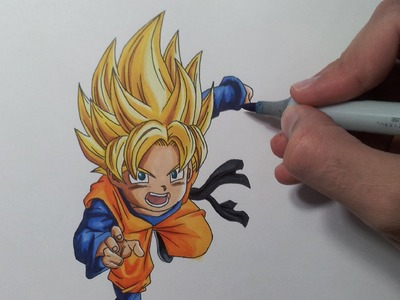 Drawing Goten Super Saiyan | SSJ