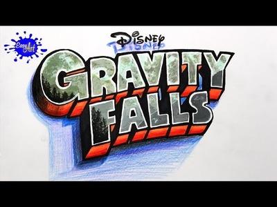 DRAWING GRAVITY FALLS 3D l how to drawgravity falls - como dibujar cartoon