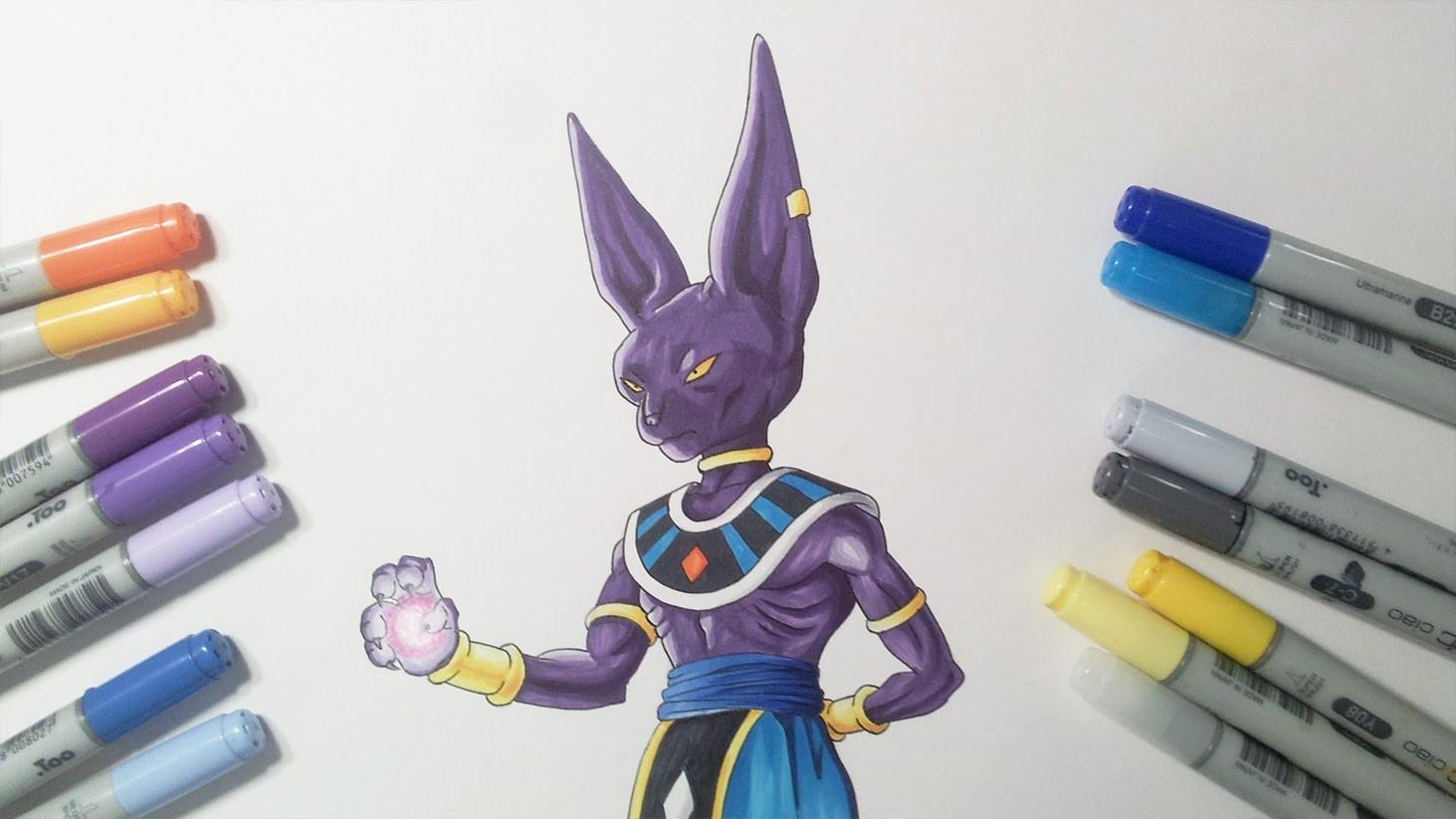Drawing Lord Beerus.Bills - God of Destruction | Dragon Ball Super