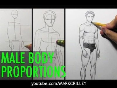 Drawing Time Lapse: Male Body Proportions