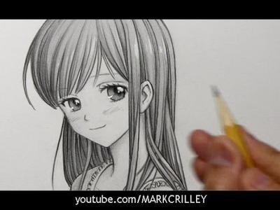 Drawing Time Lapse: Manga Girl with Long Hair