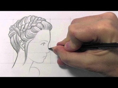 """Drawing Time Lapse: """"Updo"""" Hairstyles"""