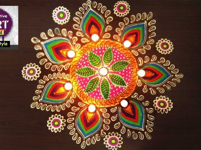 Easy Rangoli | Art with creativity