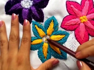 Embroidery stitches by hand tutorial | hand embroidery for beginners | hand embroidery letters