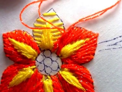 Embroidery stitches by hand flower | embroidery stitches by hand for beginners