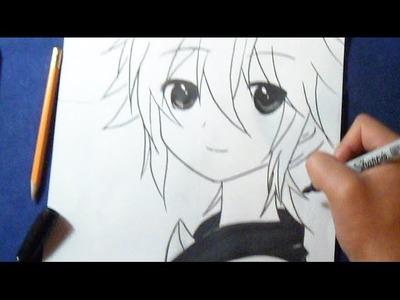 Fácil - Cómo dibujar a Len Kagamine | How to draw Len Kagamine