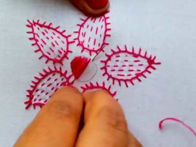 Hand Embroidery- Blanket stitch Flower Embroidery