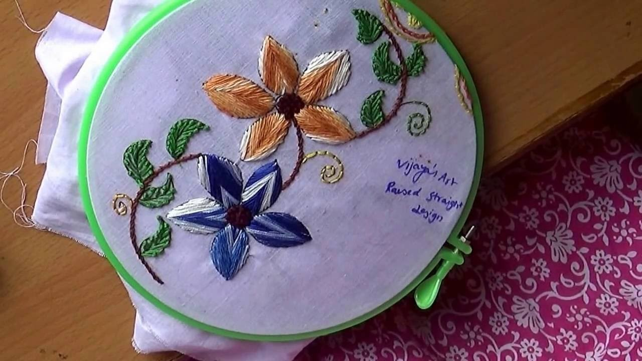 Hand Embroidery Designs # 155 - Raised Straight stitch Design