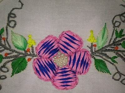 Hand embroidery designs. embroidery stitches tutorial. embroidery for cushion covers,  dresses etc,.