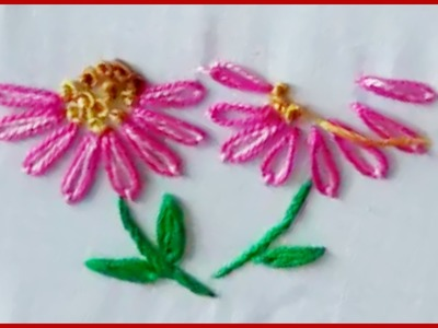 Hand Embroidery  Double Lazy Daisy Stitch