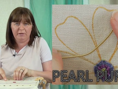 Hand Embroidery Goldwork - Overstretched Pearl Purl tutorial
