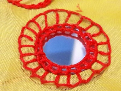 HAND EMBROIDERY : MIRROR WORK #1