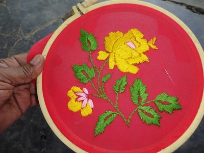 Hand Embroidery Simple Satin Stitch by Amma Arts