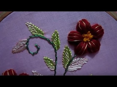 Hand Embroidery stitches | Cotton Puffed Flower | Stitch and Flower-69