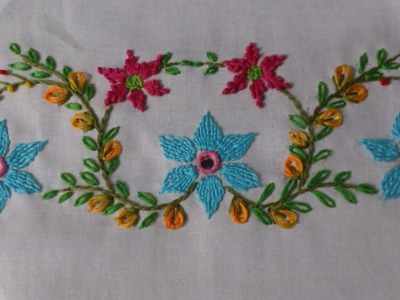 Hand embroidery tutorial. Mirror work , romanian couching stitch. design for cushions covers.