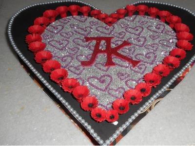 Heart shaped box card for Boyfriend - part 3
