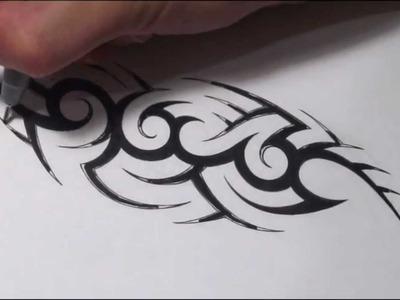 How To Create a Hidden Tribal Name Tattoo Design