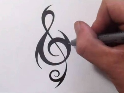 How To Create a Unique Tribal TREBLE CLEF Tattoo Design