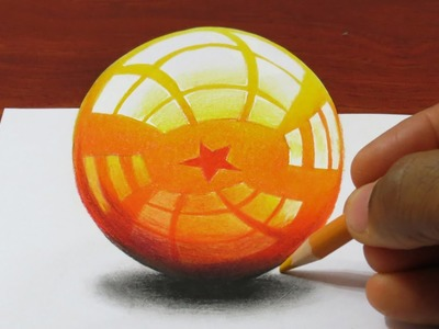 How to Draw a 3D DragonBall - Dragon Sphere