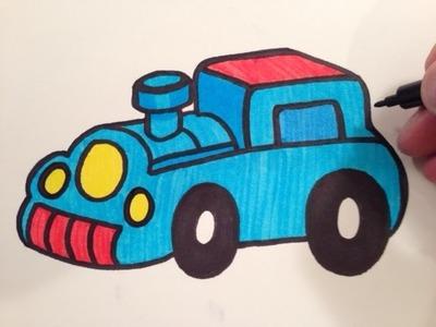 How to Draw a Cute Choo Choo Train