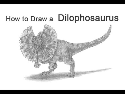 How to Draw a Dilophosaurus from Jurassic Park