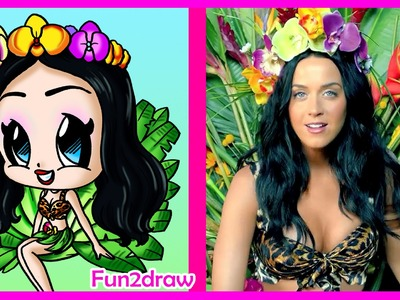 How to Draw A Katy Perry Chibi Step by Step - Fun2draw