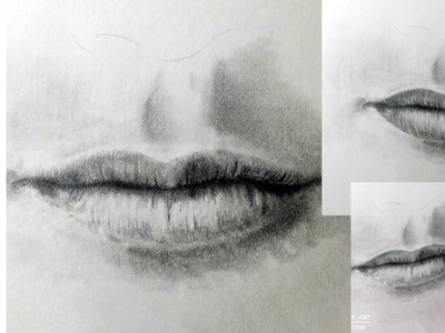 How to draw a realistic mouth - drawing  tutorial w. Lachri