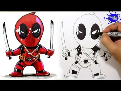 How to Draw Deadpool Step by Step. Como Dibujar a Deadpool paso a paso. easy art