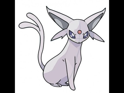 "How to Draw ""Espeon POKEMON"" - Como Dibujar al Pokemon Espeon"
