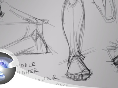 How to Draw Feet Part 2 of 2