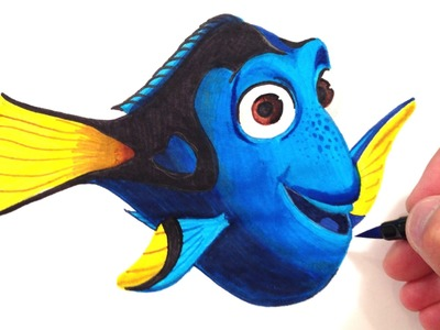 How to Draw Finding Dory
