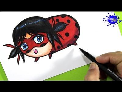 How To Draw Ladybug  Miraculous (Tsum Tsum). Como dibujar a Ladybug. Easy art
