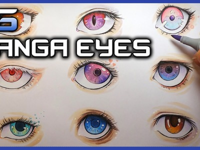 How To Draw Manga Eyes with COPICS (Narrated)