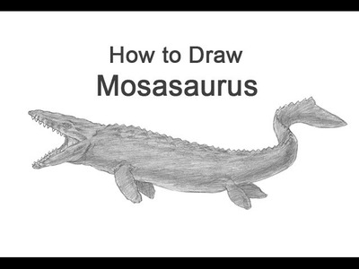 How to Draw Mosasaurus from Jurassic World