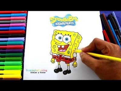 How to draw SPONGEBOB Squarepants | Cómo dibujar a Bob Esponja fácil (paso a paso)