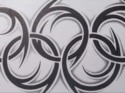 How to Draw the Olympic Rings - Tribal Tattoo Design Style