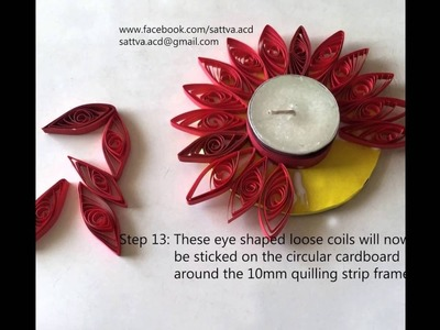 How to make Quilled Tea Light Candle Holder?