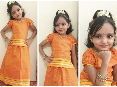 Indian Traditional Dress Idea For Baby Girl  | Parkar Polka - Maharashtra Outfit For Baby Girl
