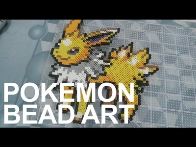 JOLTEON PERLER BEAD ART