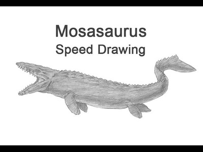 Mosasaurus from Jurassic World Time-lapse (Speed) Drawing