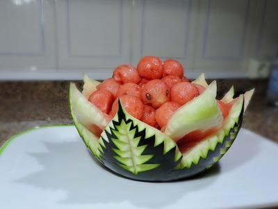 ORIGINAL FORM TO CUT AND SERVE WATERMELON - By J Pereira Art Carving