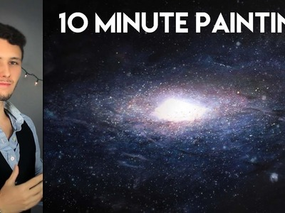 Painting a Galaxy with Acrylics in 10 Minutes!
