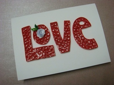 Quilled alphabets and pop up heart card