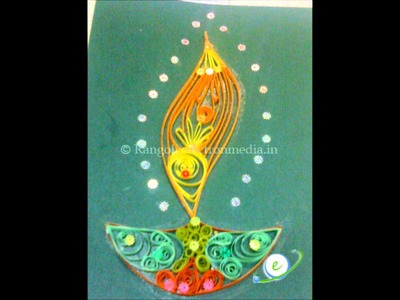 Quilling Diwali Greeting Card Ideas
