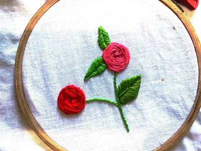 Quilling Made Easy : Hand Embroidery: Stem Stitch Rose Flower