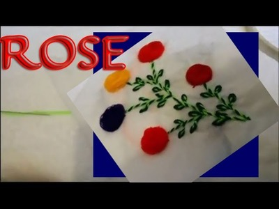 Rose Flower   Hand Embroidery