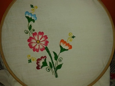 Simple Hand Embroidery With Long & Short Stitch By Ayesha - www.ayeshasworld.com