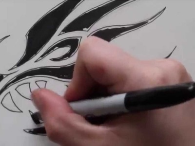ebe31d215 Design, How to Draw a Tribal Dragon Tattoo Design - Sketch 3, How to ...