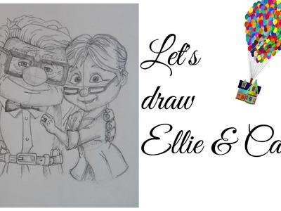 Speed Drawing | Ellie & Carl Fredricksen (Disney Pixar's Up)
